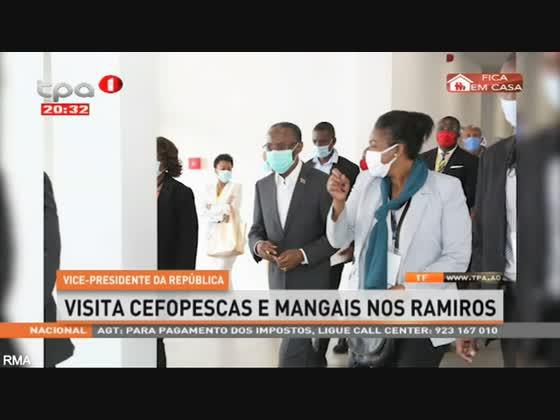 Vice-Presidente da República visita CEFOPESCAS e Mangais nos Ramiros