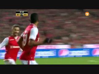 Benfica 1-2 Sporting Braga - Golo de Aderllan Santos (47min)