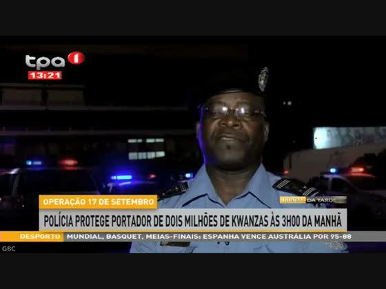 Polícia protege portador de dois milhões de kwanzas às 3h00 da manhã
