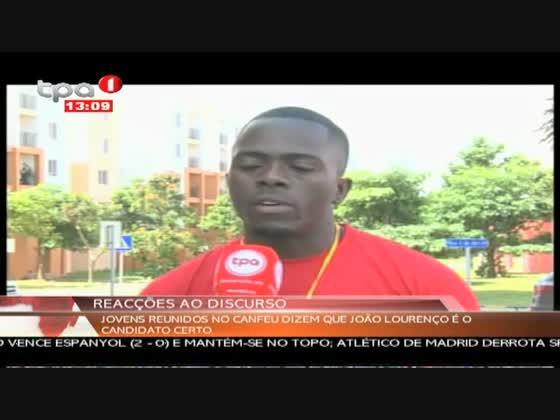"""Universitários apoiam o candidato do MPLA """"Reacção ao Discurso"""""""