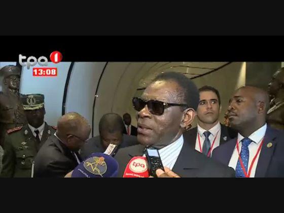 Presidente da Guiné Equatórial visita memorial de António Agustinho Neto