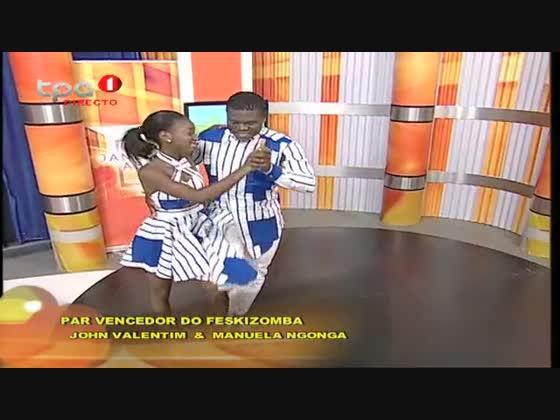 """John Valentim & Manuela Ngonga par vencedor do """"Feskizomba"""""""
