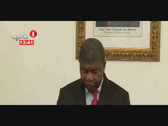 """Presidente da República eleito """"Despede-se dos seus colaboradores no Ministério"""""""