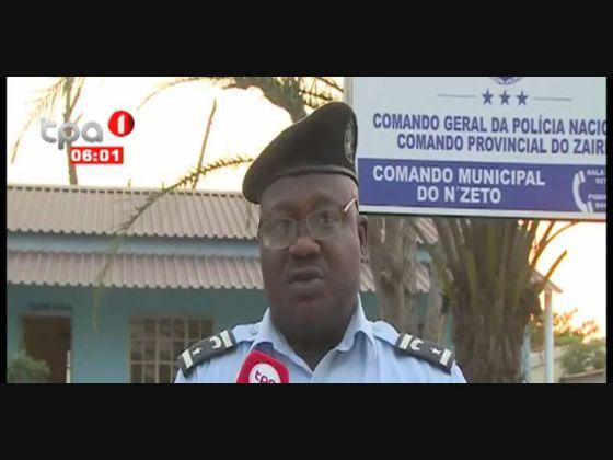 Bomba de fabrico artesanal desactivado no Nzeto, Zaire