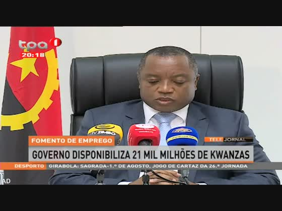 Fomento de emprego - Governo disponibiliza 21 mil milhões de kwanzas