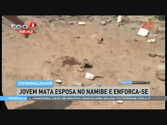 Jovem mata esposa no Namibe e enforca-se
