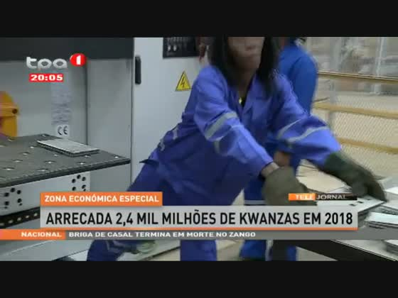 Zona Económica Especial arrecada 2,4 mil milhões de Kwanzas em 2018